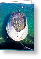 Sunken Motor Boat After Storm Greeting Card