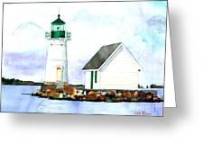 Sunken Rock Lighthouse Ny Greeting Card