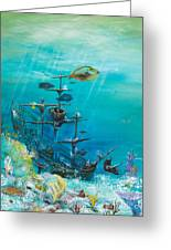Sunken Ship Habitat Greeting Card