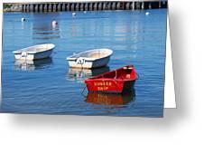 Sunken Ship Greeting Card by Lorena Mahoney