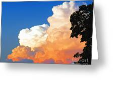 Sunkissed Storm Cloud Greeting Card