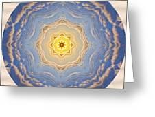 Sunlight Cloud Waves Mandala Greeting Card