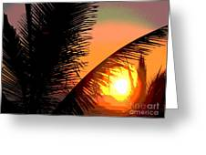 Sunlight - Ile De La Reunion - Reunion Island Greeting Card by Francoise Leandre