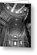 Sunlight In St. Peter's Greeting Card by Susan Schmitz