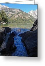 Sunlight On Lake Jenny Greeting Card