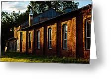 Sunlight On Old Brick Building - Ellensburg - Washington Greeting Card