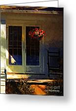Sunlight On Scarlet - New England Autumn Greeting Card