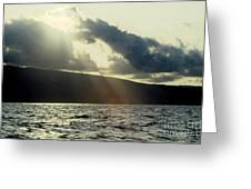 Sunlit Rays Before Sunset Greeting Card