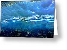 Sunlit Wave Greeting Card