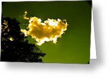 Sunlit Yellow Cloud Greeting Card