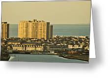 Sunny Day In Atlantic City Greeting Card by Trish Tritz