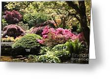Sunny Japanese Garden Greeting Card