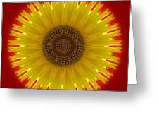 Sunny Kaleidoscope Greeting Card