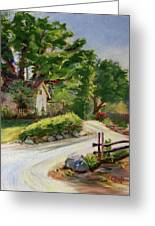 Sunny Lane At Stonycreek Farm For Prints And Greeting Cards And Iphone Covers Greeting Card