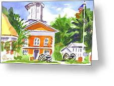 Sunny Morning On The City Square Greeting Card