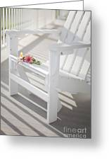 Sunny Porch Greeting Card by Diane Diederich