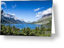 Sunny Saint Mary Lake Greeting Card