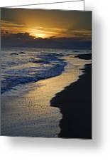 Sunrays Over The Sea Greeting Card