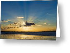 Sunrays Greeting Card by Trevor Wintle