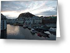 Sunrise Above Aalesund Greeting Card