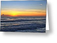 Sunrise And Waves Greeting Card