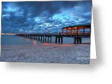 Sunrise At Anglin's Fishing Pier Greeting Card