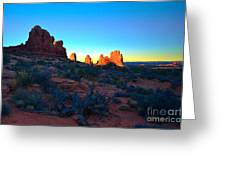 Sunrise At Arches National Park Greeting Card