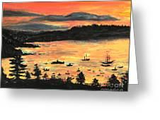 Sunrise At Bar Harbor Maine Greeting Card