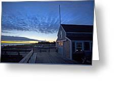 Sunrise At Barnstable Yacht Club Greeting Card