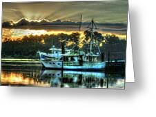 Sunrise At Billy's Greeting Card by Michael Thomas