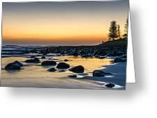 Sunrise At Burleigh Greeting Card