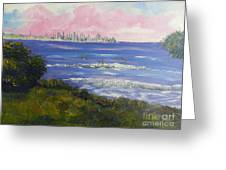Sunrise At Burliegh Heads Greeting Card