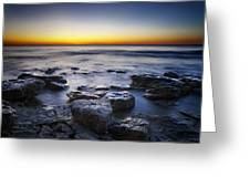 Sunrise At Cave Point Greeting Card