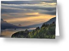 Sunrise At Crown Point Greeting Card