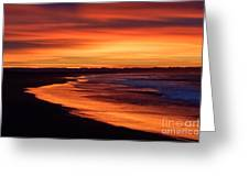 Sunrise At Damon Point Greeting Card