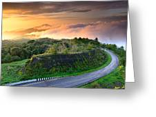 Sunrise At Doi Intanon National Park View Point Thailand Greeting Card