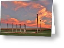 Sunrise At Field Of Dreams Greeting Card