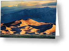 Sunrise At Great Sand Dunes Greeting Card