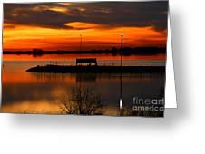 Sunrise At Jackson Greeting Card