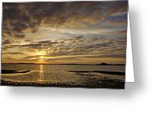Sunrise At Low Tide - Sleepy Cove Greeting Card