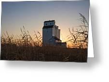 Grain Elevator At Sunrise Greeting Card