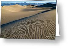 Sunrise At Mesquite Flat Sand Dunes Greeting Card
