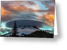 Sunrise At Mount Hood   Greeting Card