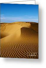 Sunrise At Oceano Sand Dunes Greeting Card