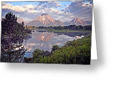 Sunrise At Oxbow Bend 4 Greeting Card