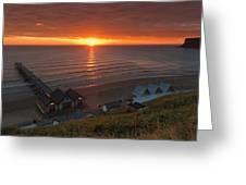 Sunrise At Saltburn Greeting Card