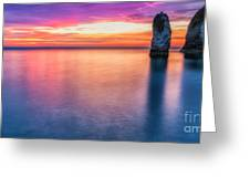 Summer Sunrise Selwick Bay Flamborough Greeting Card