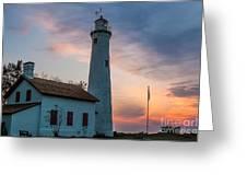 Sunrise At Sturgeon Point Greeting Card
