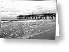 Sunrise At Surfside Bw Greeting Card