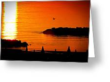 Sunrise At The Adriatic Sea Greeting Card by Matteo Musso